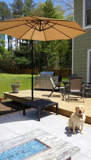 deck umbrella patio furniture