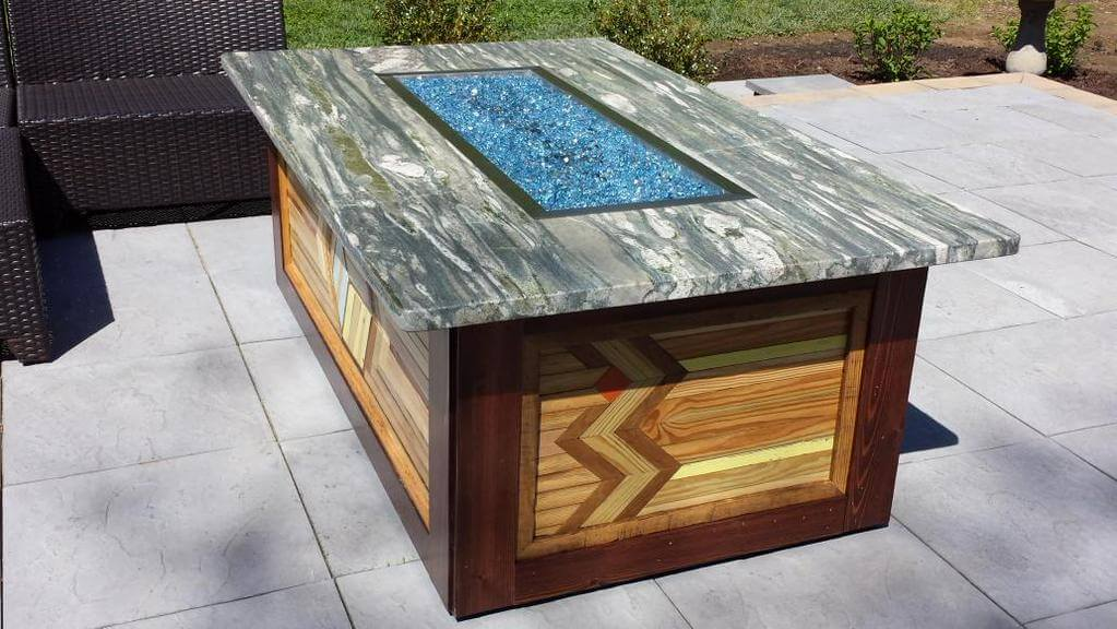 Custom Fire Table, Fire Pit, patio, deck - DIY Patio Fire Pit Table - Homeowner GC